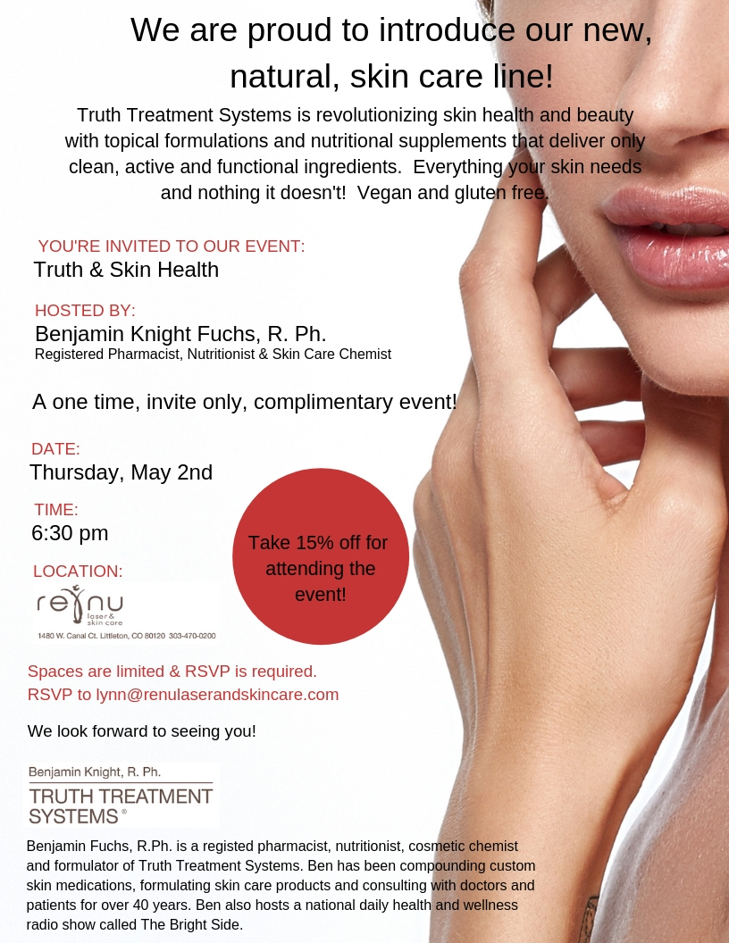 Join us for a Skincare Party! May 2, 2019