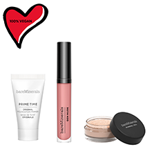 Image of primer, powder and lipcolor products
