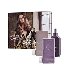 Image of box set with Hydrate Me hair products placed separately in front of box