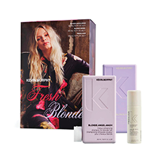 Image of box set with Blonde Angel hair products placed separately in front of box