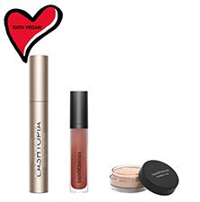 Image of mascara, lipcolor and powder
